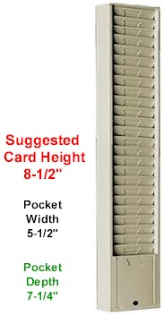 Daily Job Ticket Rack, Model 163, 25 Pocket