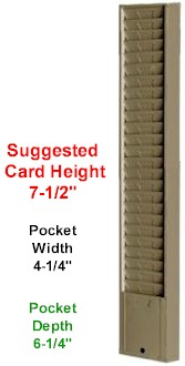 Job Ticket Holder, Model 179, 25 pocket